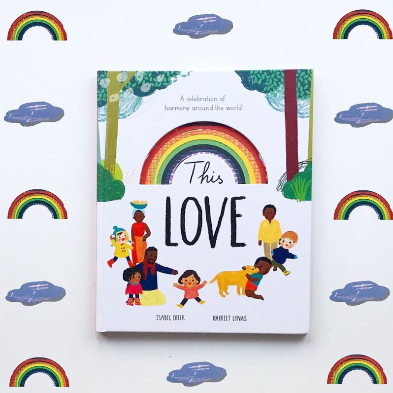 Cover shot of This Love with rainbow and cloud background. MammaFilz.com