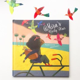 Cover shot of Mira's Curly Hair picture book on MammaFilz.com
