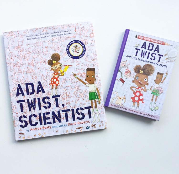 Ada Twist Scientist and Ada Twist and the Perilous Pantaloons.