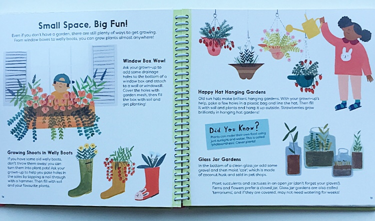 Small space big fun. Extract from book about gardening for children.