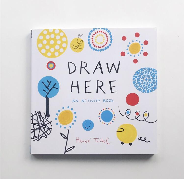 Draw Here an activity book on mammafilz.com