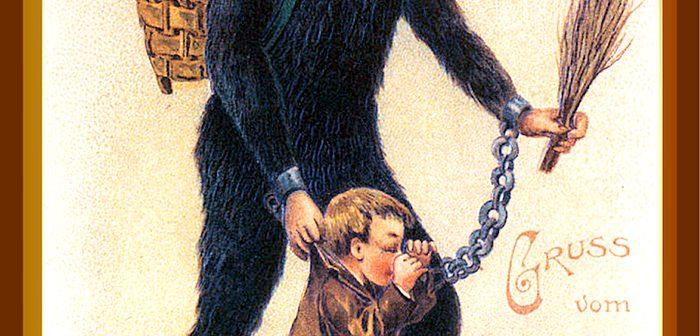 Caruccio, vero, Zwarte Piet che mette i bambini cattivi nel sacco per portarseli in Spagna, presumibilmente per venderseli come schiavi