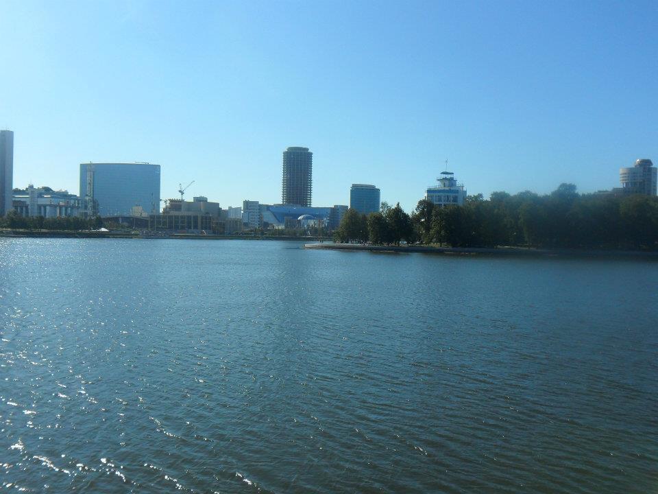 cosa vedere a ekaterinburg : il panorama del fiume Iset