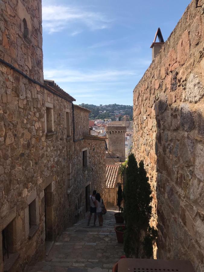 vicolo della vila vella di Tossa de Mar