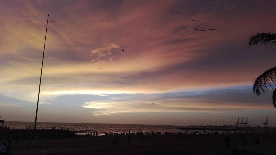 tramonto a Galle Face