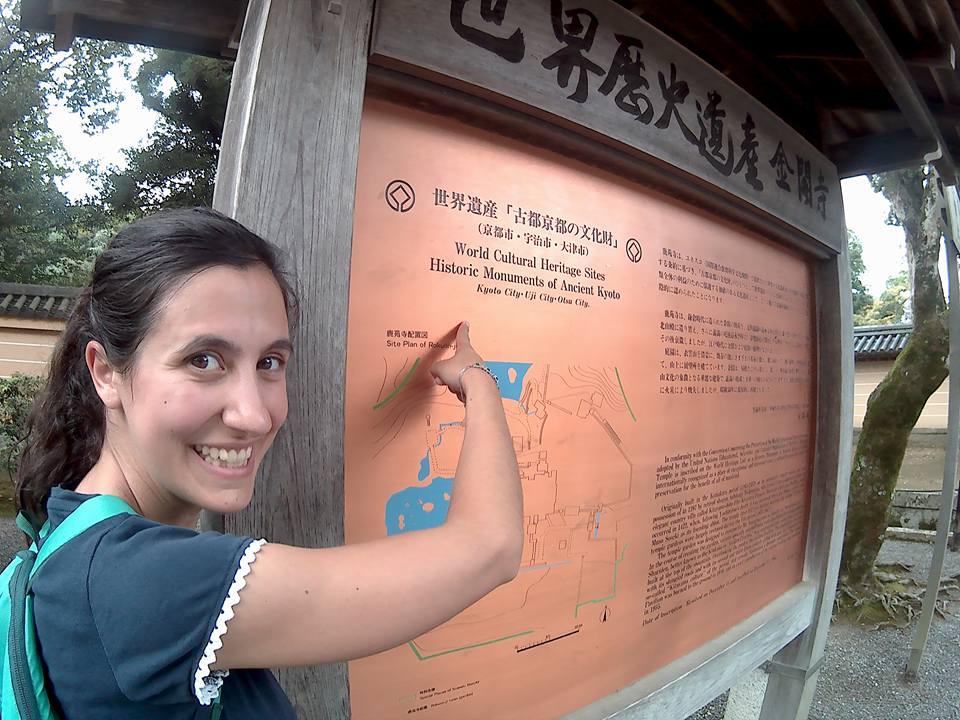 Io visitando i templi di KYOTO
