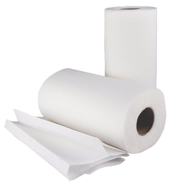 White Kitchen Roll Ply Rolls Staples Disposables Spd396