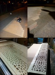 "Fabricating and assembling the CNC milled ""Mashrabyia"" partition"