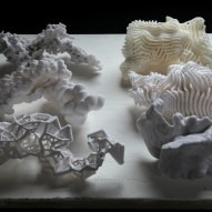 Overcast - Guan Lee, Mamou-Mani - 3D Printed Cloudlets Ceiling Installation - Process models for light scattering