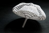 Overcast - Guan Lee, Mamou-Mani - 3D Printed Cloudlets Ceiling Installation - One module of a cloudlet