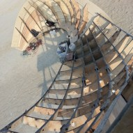 Construction process - View from top of Shipwreck