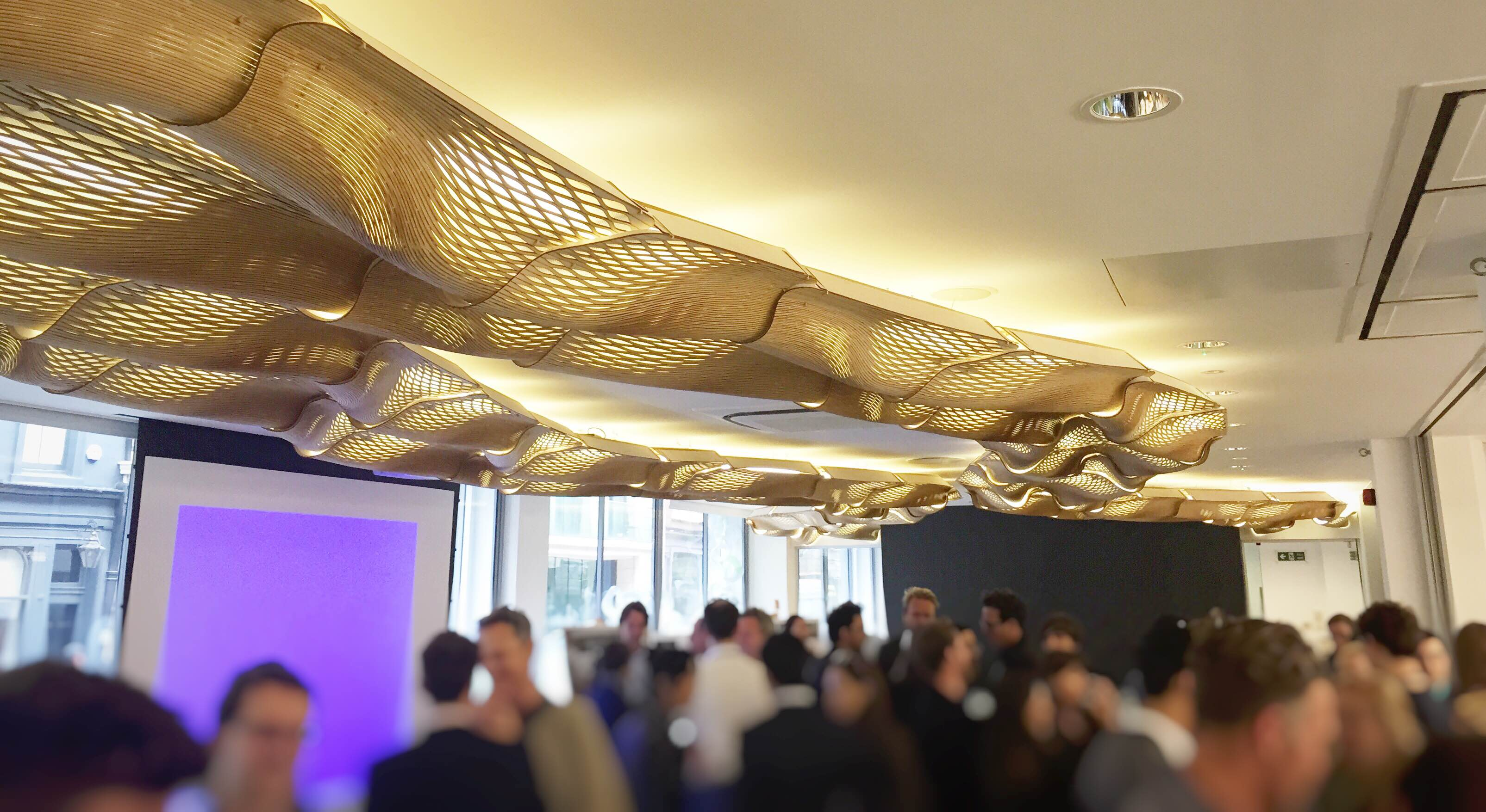 The WoodenWaves by Mamou-Mani at BuroHappold - Opening Event - Photo by Lorenzo Vianelli
