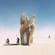 Photograph by PieterJan Mattan for Dezeen - Tangential Dreams at Burning Man 2016 by Arthur Mamou-Mani