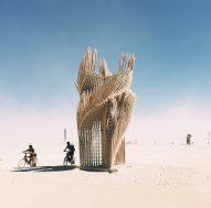 Photograph by PieterJan Mattan for Dezeen - Tangential Dreams at Burning Man 2016 by Arthur Mamou-Mani