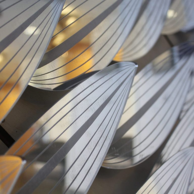 Close up on The Flying Leaves at BuroHappold ©Mamou-Mani
