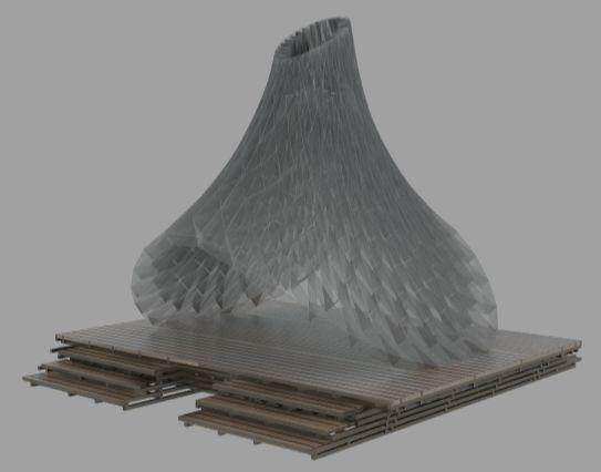 ResoNet Pavillion Computational Design by Mamou-Mani