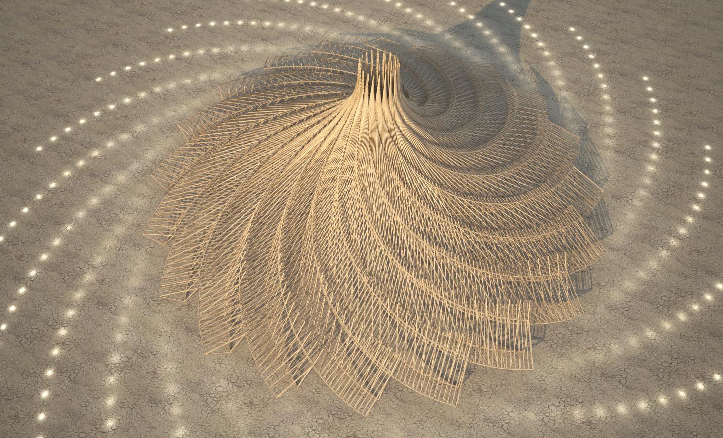 Galaxia - Burning Man Temple 2018 - Top View