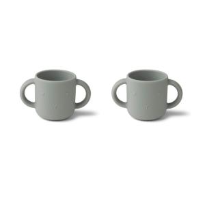 Duo gobelet silicone Lapin bleu – Liewood