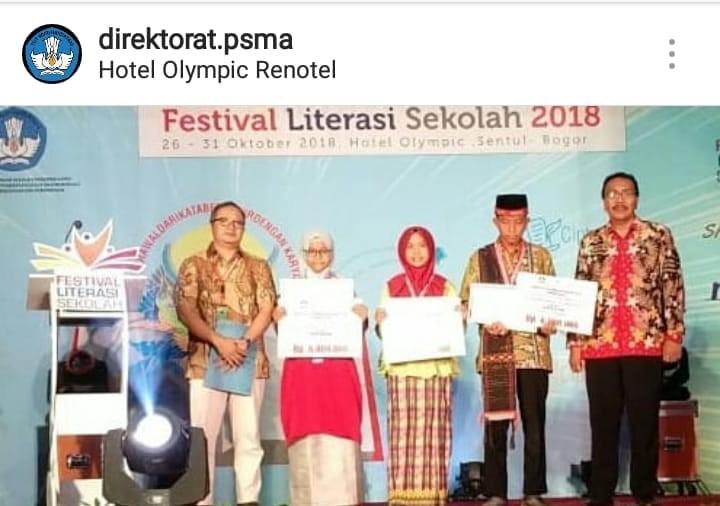 Sang Penakluk Kotelama, Shoffiya Lukman Juara Festival Literasi Sekolah TK Nasional 2018