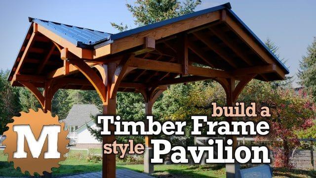Constructing A Three Gable Timber Frame Garden Or Patio