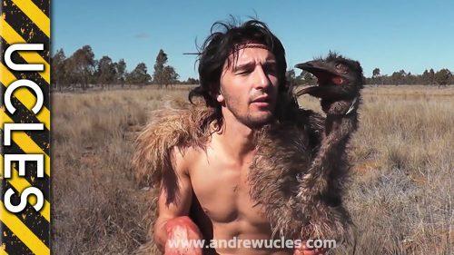 まさに野生!!死んだエミューを被って扮装しカンガルーを捕まえる!!