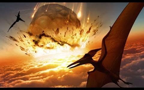 恐竜を絶滅させたと考えられているメキシコに落下した巨大隕石の再現映像