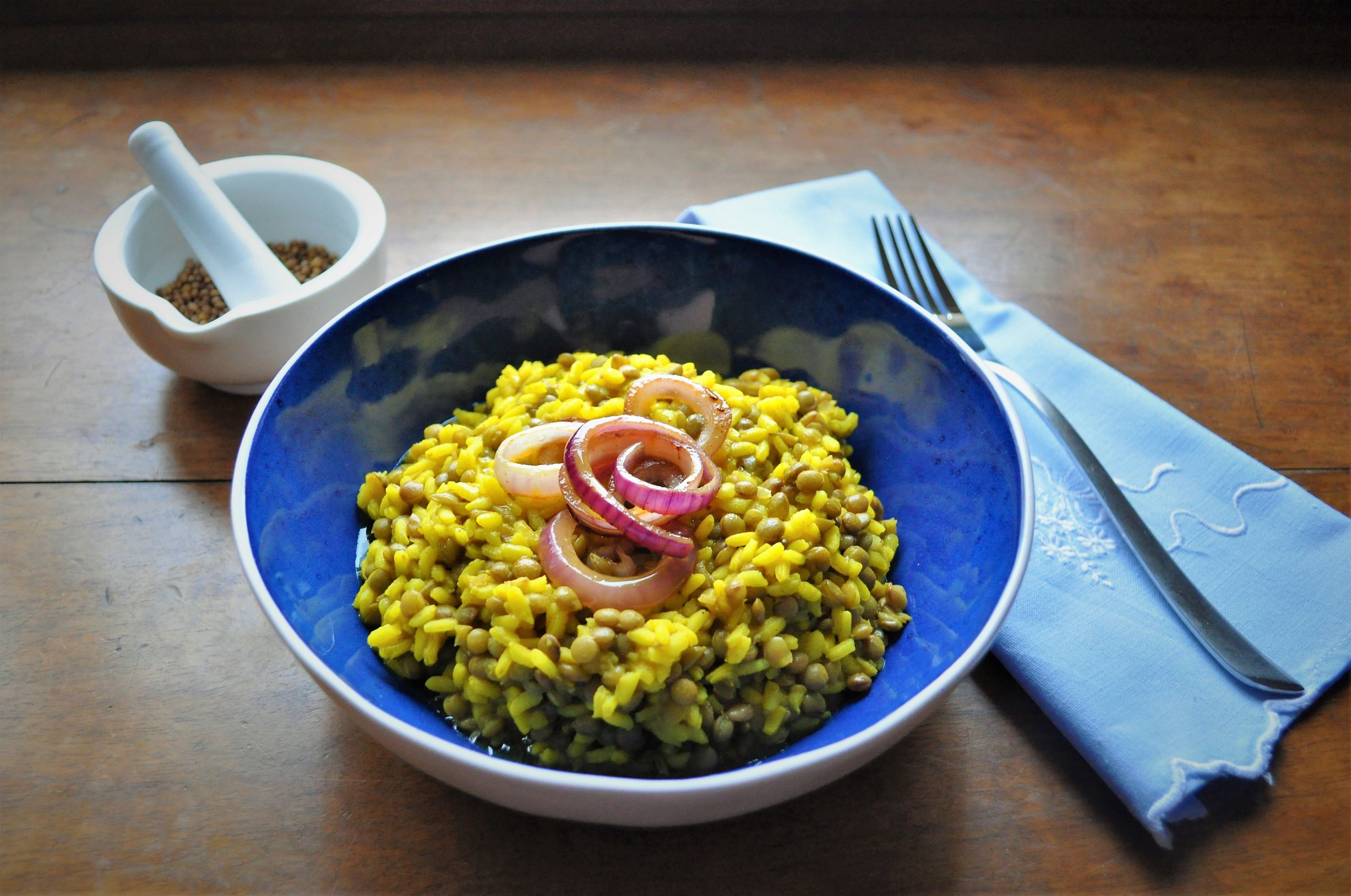 """""""Fakoriso"""" lentils with rice"""