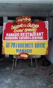 Bunga Papan di Manado Pembukaan Restoran