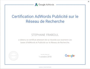 certification adwords - FRABOUL Stephane