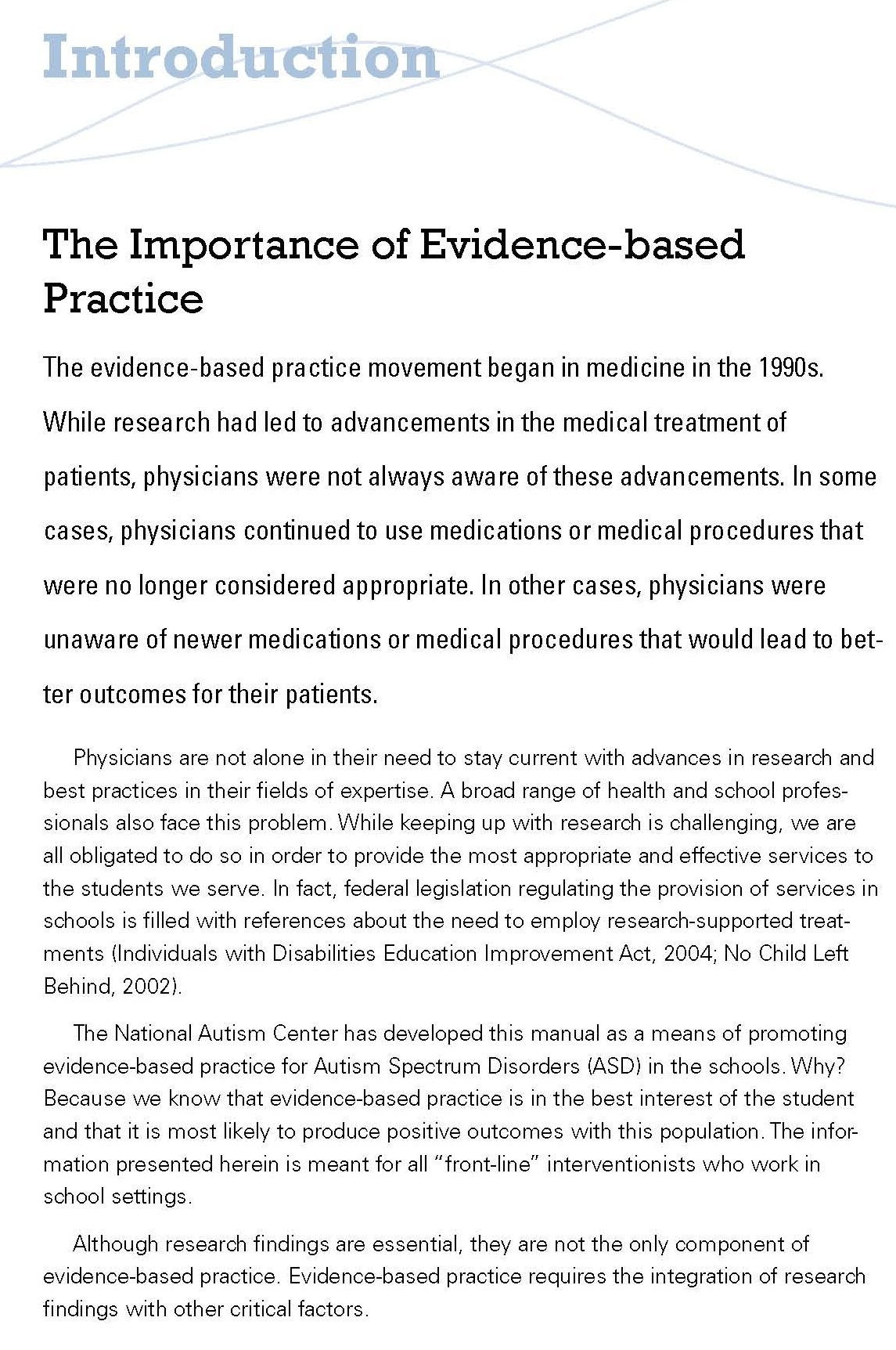 Evidence Based Practice And Autism In The Schools