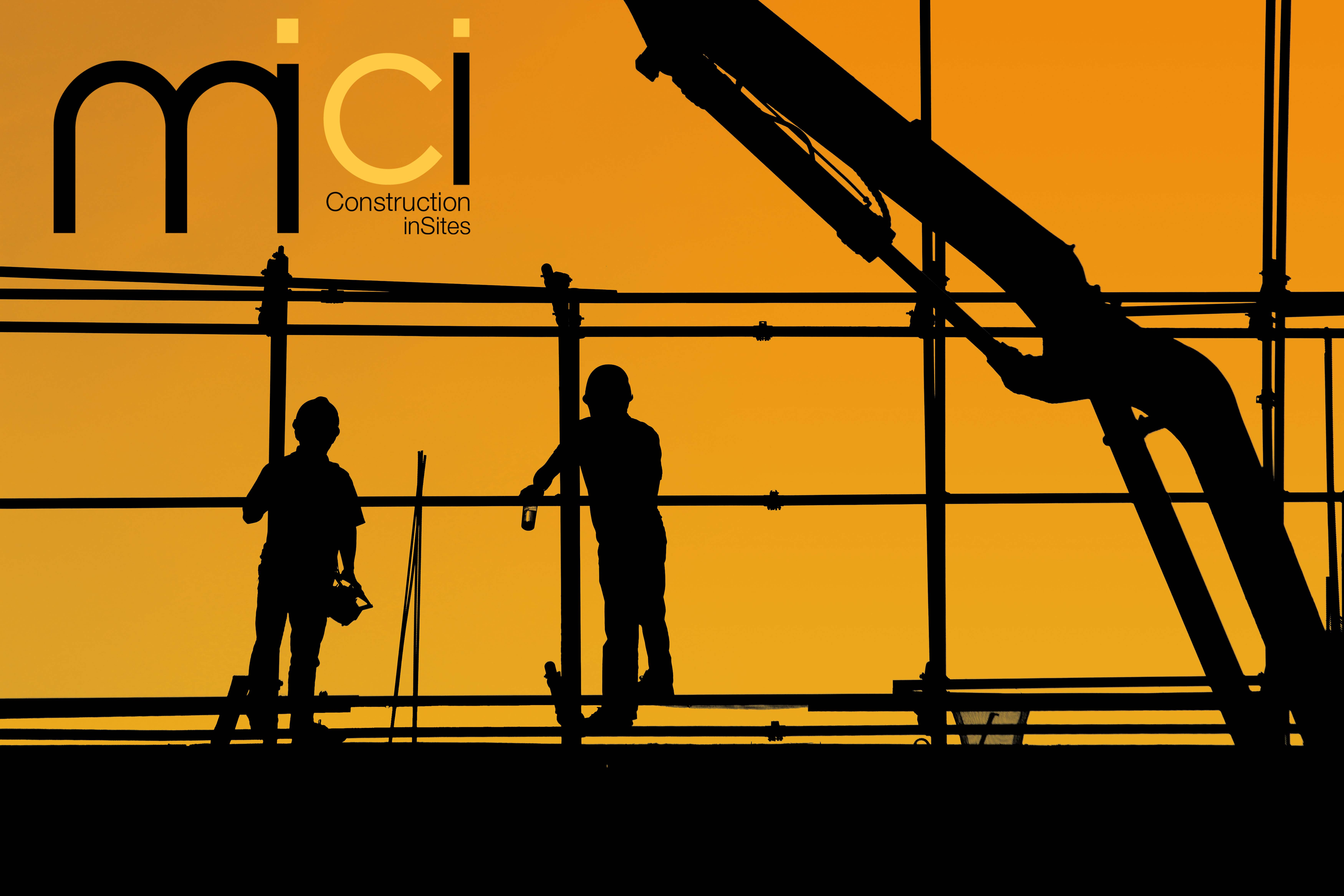 Workers on a construction project