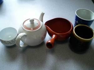 ルピシア煎茶サクラサク 茶器を用意