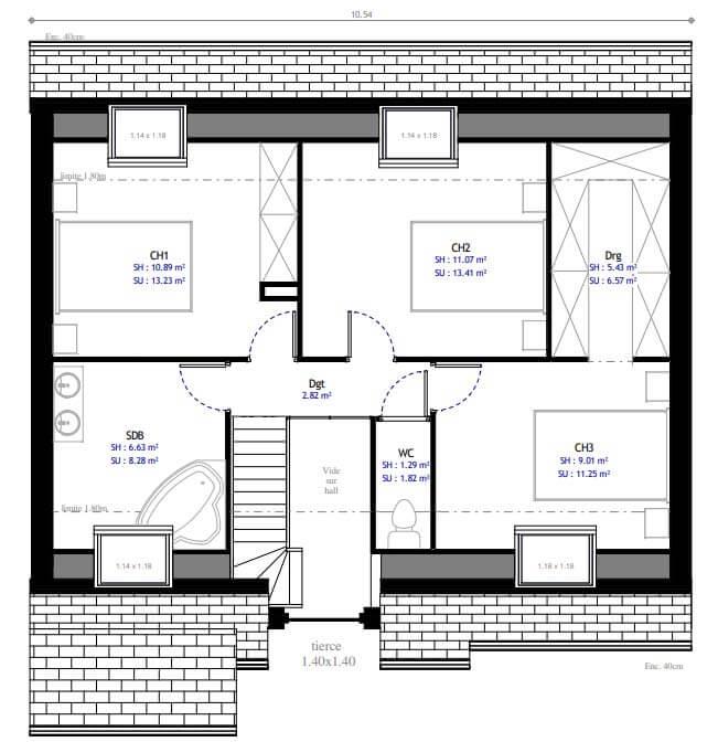 4 chambres modele lesmaisons com 114