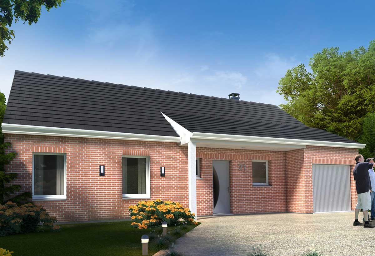 Plan Maison Individuelle 3 Chambres 21 Habitat Concept