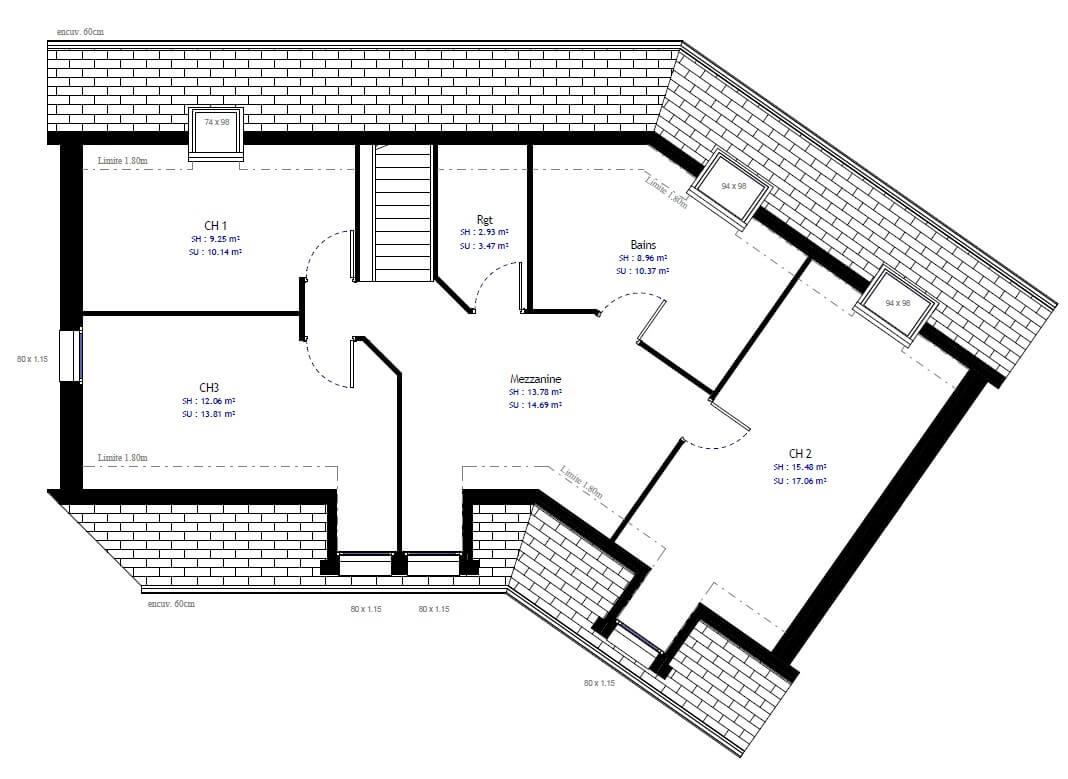 Plan Maison Individuelle 4 Chambres 71 Habitat Concept
