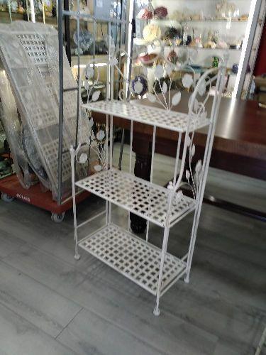 etagere fer forge blanc 3 etages cb 84
