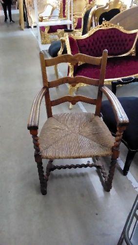 fauteuil ancien paille occasion troc