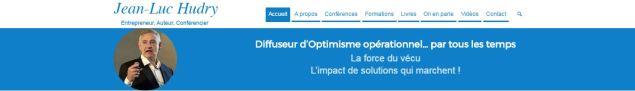 Site de Jean-Luc HUDRY, Auteur, Conférencier, Entrepreneur