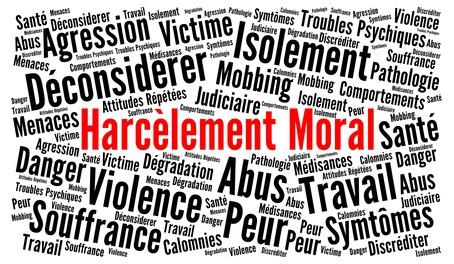 Harclement moral nuage de mots