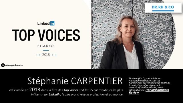 Stéphanie CARPENTIER Flyer TOP 25 Linkedin 2018 Version 2
