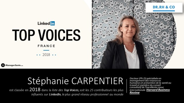 Stéphanie CARPENTIER Flyer TOP 25 Linkedin 2018 Version 2