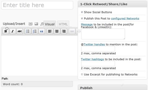 1-Click Retweet/Share/Like