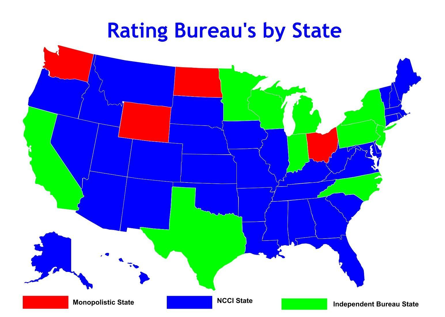 Ncci States Monopolistic States And Independent Bureau