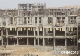 Bahria Town Karachi Apartments Work in Progress at Full Swing