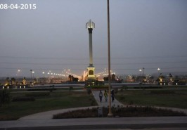 Bahria Town Karachi Trafalgar Square view from Distance
