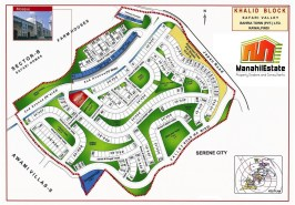 Khalid Block Bahria Town Rawalpindi Map