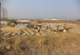 Sangjani Interchange AWT work in Progress