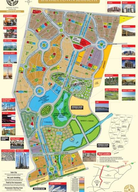 Bahria Town Karachi Master Plan