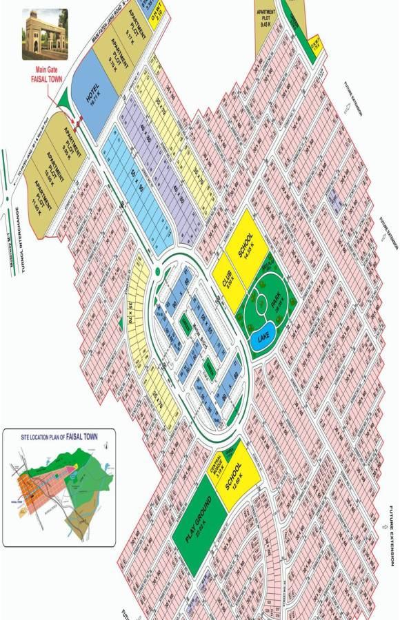 Faisal Town F-18 Map