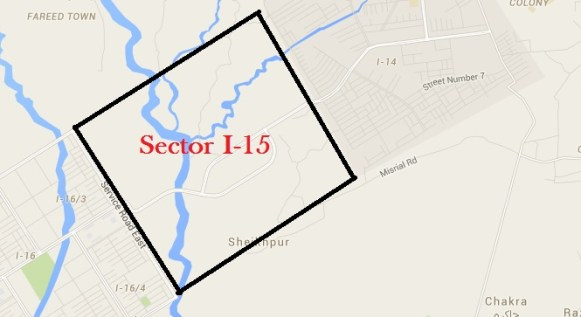 Sector I-15 Islamabad Location Google Map